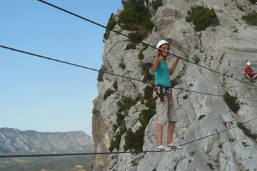Via ferrata – via corda